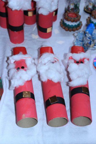 Père-Noël réalisés par les cycles 1